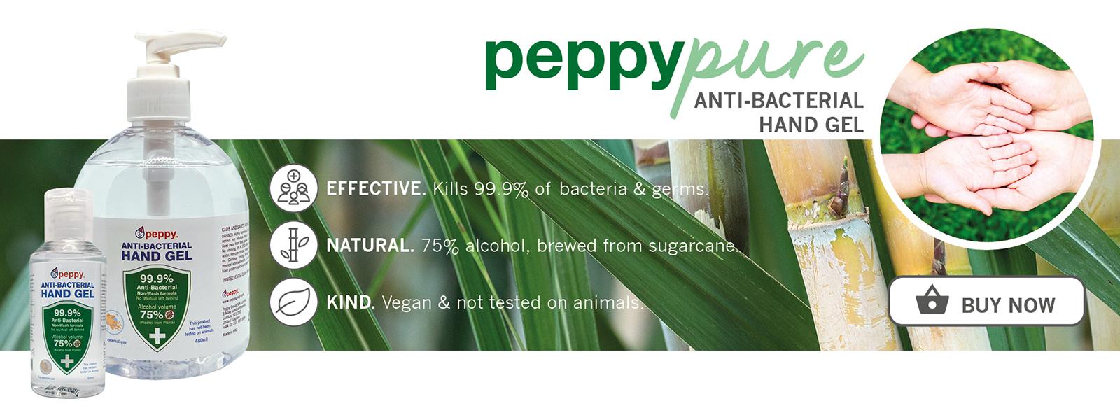 PeppyPure Anti-Bacterial Hand Gel