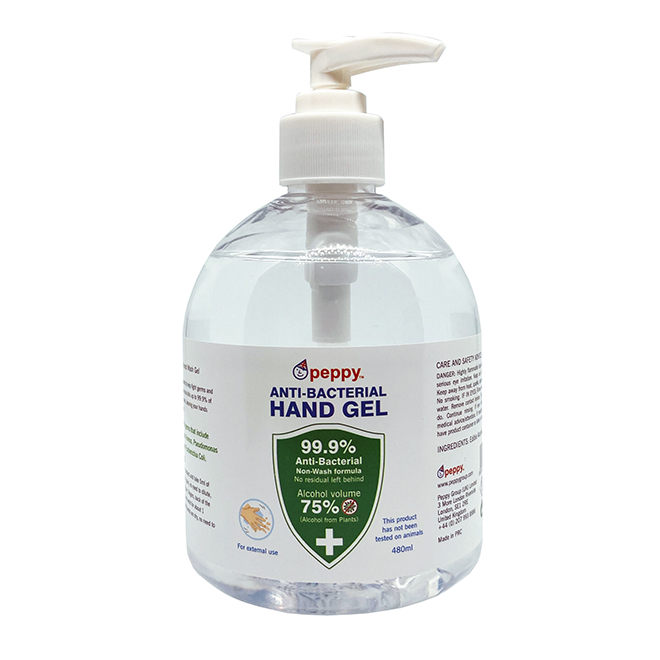 Peppy Hand Gel 480ml Sq