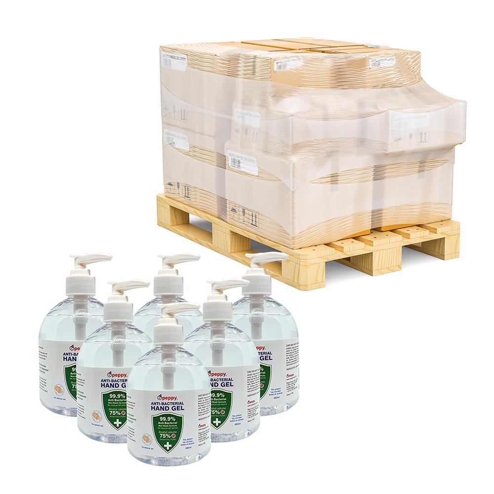 480ml pallet 75% Alcohol Anti-Bacterial Hand Sanitiser Gel