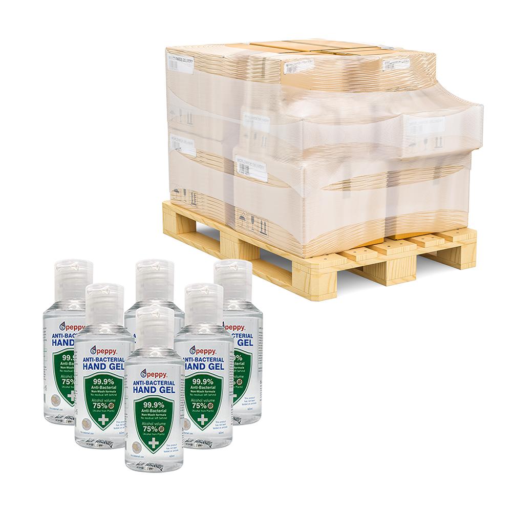 60ml pallet 75% Alcohol Anti-Bacterial Hand Sanitiser Gel