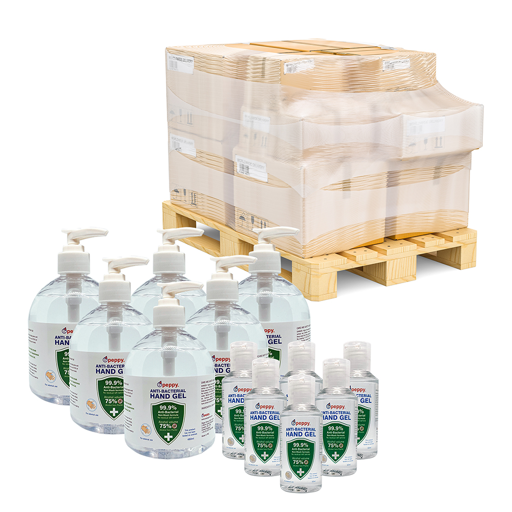 Mixed pallet 75% Alcohol Anti-Bacterial Hand Sanitiser Gel