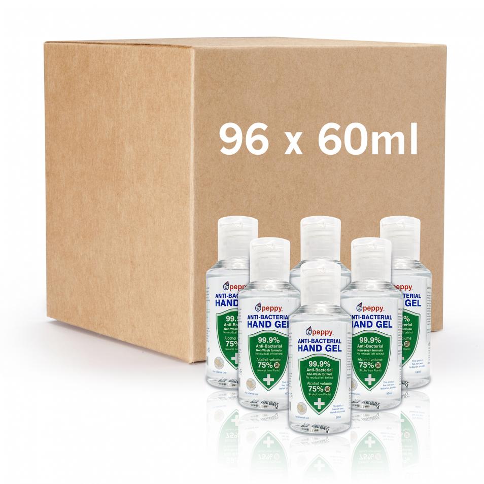 Peppy anti-bacterial gel 96x60ml